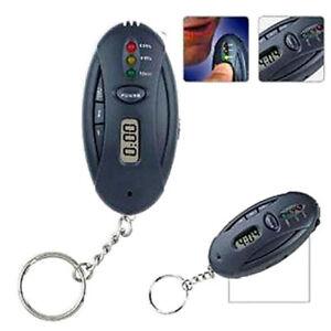 Portable Alcohol breath Test Breathalyser Tester LED Flashlight Keychain x 2