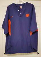 Vintage Nike Clemson Tigers Player Used Team Worn Jacket Sz L RARE Gray NIKE Tag