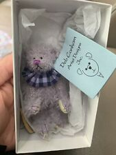 """DEB CANHAM  """" LILAC LIL"""" LILAC MOHAIR-FULLY JOINTED-MINI 3 1/4"""" Mint New Box Coa"""
