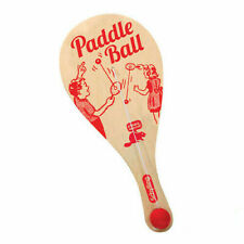Schylling Fun Plywood Made Paddle Ball Game With Pollybagged - 4921516