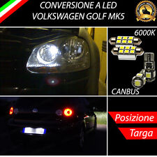 LUCI POSIZIONE A LED + LUCI TARGA A LED CANBUS VOLKSWAGEN GOLF MK5 NO ERROR