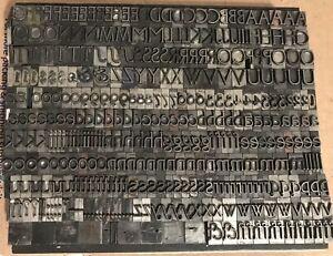Vintage Led Type Letterpress 30pt Led Print Type Letters Numbers No Reserve