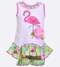 BONNIE JEAN® Baby Girl 24M Flamingo Short set NWT