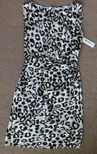 DKNY SLEVELESS DRESS LEOPARD PRINT, Pearl, Size 4, MSRP $119