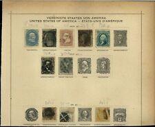 USA 1861-1869 Album Page Of Stamps #V15364