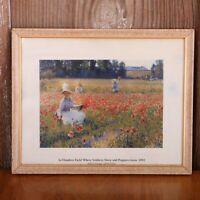 Robert Vonnoh In Flanders Field Where Soldiers Sleep & Poppies Grow Framed Print