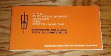 1971 Oldsmobile Cutlass 442 F-85 Owners Operators Manual 71