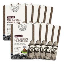 Welcos Jeju Natural Volcanic Pore care Sebum control Mask 10pcs korea Cosmetic