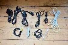 Job lot TV aerial/coaxial/SCART/ADSL/modem cables incl. Apple