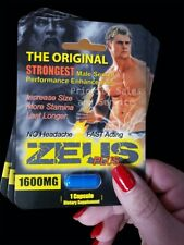 Zeus Plus 1600 - (3 Packs) Male Herbal Sex Enhancement Supplement Pills