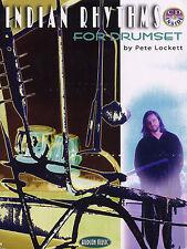 Pete lockett ritmi indiano per drumset imparare a giocare TAMBURI music book & CD