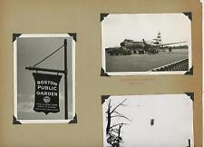 VINTAGE NORTHEAST AIRLINES PLANE SHELL OIL TRUCK BOSTON PUBLIC GARDEN SIGN PHOTO