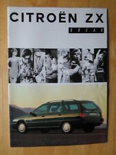 CITROEN ZX Estate Break 1993 1994 French Mkt brochure