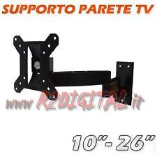 """SUPPORTO PARETE ORIENTABILE 10"""" a 26"""" TV MONITOR LCD LED 3D PLASMA TELEVISORE"""
