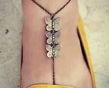 Handmade Slave foot chain anklet toe ring body jewellery accessory boho Sandal