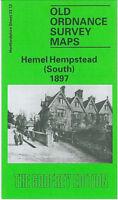 OLD ORDNANCE SURVEY MAP HEMEL HEMPSTEAD SOUTH 1897 PARADISE MOOR END CORNERHALL