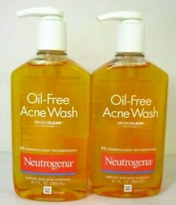 2 Neutrogena Oil Free Acne Wash 9.1fl oz ea exp 11/2022 Salicylic acid acne