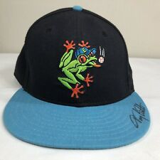 VTG Everett Aqua Sox Hat New Era Fitted Cap Minor League Baseball 90s Sz 7 3/8