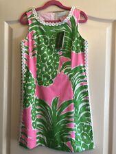 Lilly Pulitzer Girls Dress Size 10 Mini Mila Shift Pink Flamenco Pineapple NWT