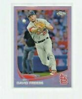 DAVID FREESE (St. Louis Cardinals) 2013 TOPPS CHROME REFRACTOR CARD #135