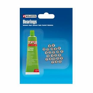 Ball Bearing and Grease 72 Balls 1/8 Inch Bicycle Freewheels Pedals Weldtite