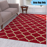 5 x 7 feet Modern Traditional Area Rug Geometric Moroccan Trellis Pattern Red