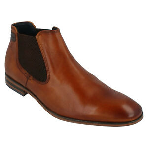 BUGATTI CHELSEA STYLE FORMAL MENS ANKLE SMART WORK BOOTS 311-10120-4100 SHOES