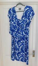 PHASE EIGHT - SUPERB WOMAN'S DRESS SIZE 18 BLUE & WHITE BARELY WORN - BEAUTIFUL