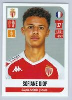 2020 2021 Panini Foot Ligue 1 Sticker Sofiane Diop Rookie As Monaco #280 RC MNT