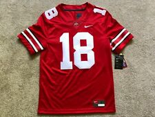 Nike New Ohio State Buckeyes Mens #18 Stitched Ncaa Jersey Msrp $135 Red Small S