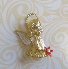 GERRY'S SIGNED PRE-LOVED BROOCH - GOLDTONE ANGEL w COLOURED ENAMELS