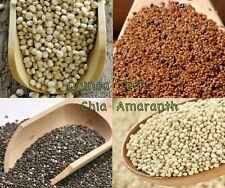 Grow 4 Ancient Grains; Quinoa + Teff + Chia + Amaranth Seeds *Free US shipping*