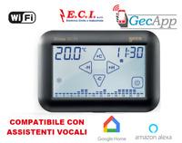 GECA - Cronotermostato ROMA Touch Screen e Wi-Fi NERO 33212566