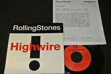 THE ROLLING STONES Highwire / Dutch SP 1991 incl. PROMO SHEET SONY 6567567