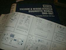 1980 1981 FORD GRANADA THUNDERBIRD MERCURY COUGAR WIRING VACUUM MANUAL SHEETS