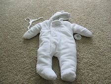 BNWT Absorba baby girl winter snow outfit, feet/hand cover, white,size 6-9M, $65