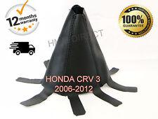 HONDA CRV CR-V MK3 2006-2012 Pelle Italiana Gear Gaiter/Cover-Nero Stitch