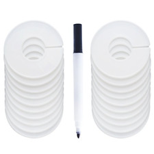 Clothing Rack Size Dividers Round Hangers Dividers With 1 Piece Marker 20 Pack