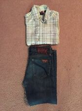 Gorgeous Boys Fox Jeans And Brooklyn Industrie Shirt Size 10