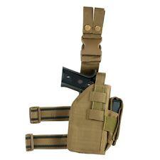 NcStar CVDLHOL2954T TAN Universal Tactical Leg Holster Handgun Pistol Mag Pouch