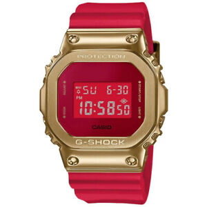 Casio G-Shock 5600 CNY Year of The Ox Red Gold Watch Limited Rare New GM5600CX-4