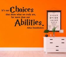It's Our Choices Albus Dumbledore Harry Potter Wall Art Quote Sticker Decal