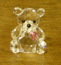 CRYSTAL WORLD #1060 OCTOBER BIRTHSTONE BEAR,  TOURMALINE, New From Retail Store