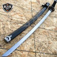 Japanese Samurai Sword KATANA High Carbon Steel Ninja Blade Dragon Tang Wood