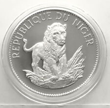 NIGER 10 FRANCS 1968 (LION - small type) SILVER Commemor. Coin (KM# 8.1) PROOF