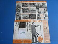 N°12979  /  The Yale & Towne 2 dépliants en français Pul-Lift 1952