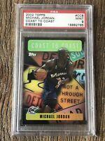 2002 Topps Michael Jordan Coast to Coast PSA MINT 9