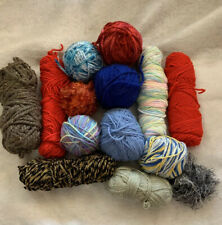 14 Items 3.6 lbs Mixed Lot Red Heart And Other Remnants Leftover Skeins Balls