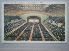 POSTCARD USA CLEVELAND OHIO - INTERIOR OF CLEVELAND PUBLIC AUDITORIUM
