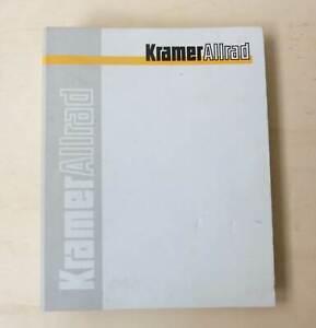 Kramer Baggerlader 416 S Ersatzteilliste Original 1989